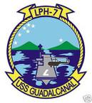 STICKER USN US NAVY LPH 7 USS GUADALCANAL