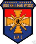 STICKER USN US NAVY LHA 3 USS BELLEAU WOOD