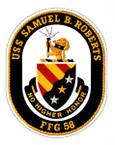 STICKER USN US NAVY FFG 58 USS SAMUEL ROBERTS I