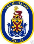 STICKER USN US NAVY FFG 41 USS McCLUSKY