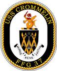 STICKER USN US NAVY FFG 37 USS CROMMELIN