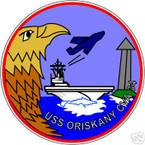 STICKER USN US NAVY CVA 34 USS ORISKANY