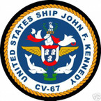 STICKER USN US NAVY CV 67 USS JFK STRIKE GROUP SHIELD
