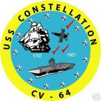 STICKER USN US NAVY CV 64 USS CONSTELLATION CARRIER
