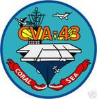 STICKER USN US NAVY CV 43 USS CORAL SEA CARRIER