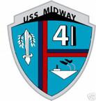 STICKER USN US NAVY CV 41 USS MIDWAY CARRIER GROUP