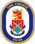 STICKER USN US NAVY CG 65 USS CHOSIN