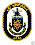STICKER USN US NAVY BB 64 USS WISCONSIN