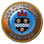 STICKER USN US NAVY 720 USS PITTSBURGH