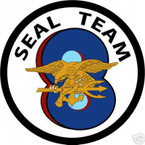 STICKER USN UNIT NAVY SEAL TEAM  8