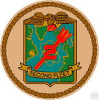 STICKER USN UNIT NAVY 2ND FLEET SHIELD