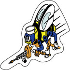 STICKER USN UNIT NAVAL CONSTRUCTION FORCE SEABEE II