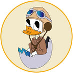 STICKER USN NIT NAS Jacksonville - Donald Duck Egg