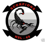 STICKER USN HSL 49 HELO ANTI-SUB SQUADRON
