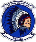STICKER USN HSL 42 HELO ANTI-SUB SQUADRON