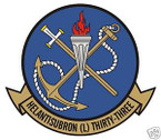 STICKER USN HSL 33 HELO ANTI-SUB SQUADRON