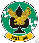 STICKER USN HSL 34 HELO ANTI-SUB SQUADRON