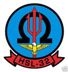 STICKER USN HSL 32 HELO ANTI-SUB SQUADRON