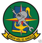 STICKER USN HSL 31 HELO ANTI-SUB SQUADRON