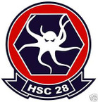 STICKER USN HSC 28 SEA COMBAT SQUADRON