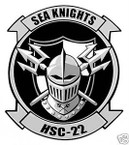 STICKER USN HSC 22 SEA COMBAT SQUADRON