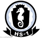 STICKER USN HS 1 HELO ANTI-SUB SQUADRON