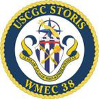 STICKER USCGC WMEC 38 STORIS