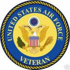 STICKER USAF VET UNITED STATES AIR FORCE VETERAN