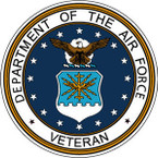 STICKER USAF VET UNITED STATES AIR FORCE SHIELD V