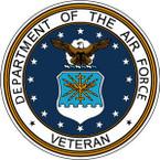 STICKER USAF VET UNITED STATES AIR FORCE SHIELD V