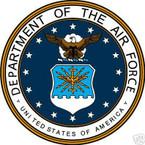 STICKER USAF VET UNITED STATES AIR FORCE SHIELD