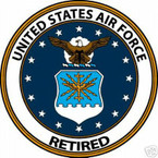 STICKER USAF VET U S AIR FORCE RETIRED SHIELD