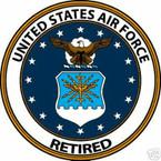 STICKER USAF VET U S AIR FORCE RETIRED SHIELD