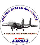STICKER USAF VET F15E STRIKE FIGHTER DECAL