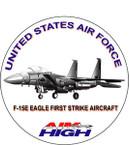 STICKER USAF VET F15E STRIKE FIGHTER DECAL