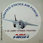 STICKER USAF VET F-35 JOINT STRIKE FIGHTER