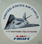 STICKER USAF VET F-117 NIGHTHAWK STEALTH FIGHTER