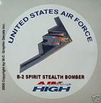 STICKER USAF VET B-2 SPIRIT STEALTH BOMBER