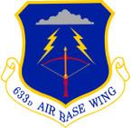 STICKER USAF  633rd Air Base Wing Emblem
