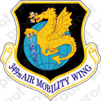 STICKER USAF  349th Air Mobility Wing Emblem