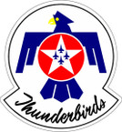 STICKER USAF THUNDERBIRDS A