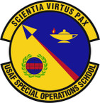 STICKER USAF Special Operations School Emblem