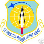 STICKER USAF AIR FORCE CIVIL ENGINEER SUPPORT