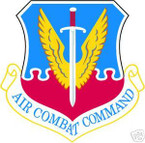 STICKER USAF AIR FORCE AIR COMBAT COMMAND