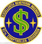 STICKER USAF 97th Comptroller Squadron Emblem