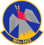 STICKER USAF 964th Airborne Air Control Squadron Emblem