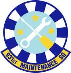 STICKER USAF 931st Maintenance Squadron Emblem