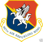 STICKER USAF 927TH AIR REFUELING WING