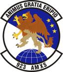 STICKER USAF 923rd Aircraft Maintenance Squadron Emblem