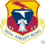 STICKER USAF 913TH AIRLIFT WING